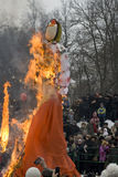 Shrovetide selebration in Russia. Shrovetide is the most jolly and widely celebrated holiday in Russia ever since the ancient times. Shrovetide - is mischievous Stock Image