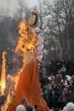 Shrovetide selebration in Russia Stock Image