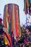 Shrovetide symbol Shrovetide beröm i den Moscow staden centrerar Arkivbilder