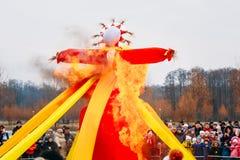 Shrovetide, Traditional Event Symbolizing Spring Stock Images
