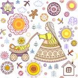 Shrovetide wallpaper Stock Photos