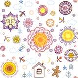 Shrovetide wallpaper Royalty Free Stock Photos