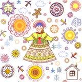 Shrovetidebehang met abstract patroon en meisje Royalty-vrije Stock Afbeeldingen