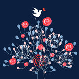 shrub ornamental птицы Стоковое фото RF