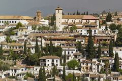 Free Shrubs And Trees In The Gardens Of The Houses Of The Albaicín, In The Center Of The City Of Granada. Stock Image - 162226651