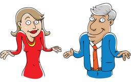 Shrugging пары бесплатная иллюстрация