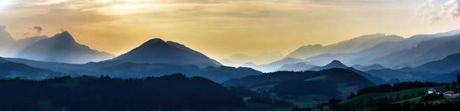 Shtiria, Austria, panoramic view Royalty Free Stock Image