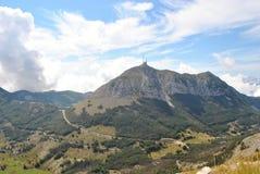 Shtirovnik - överkant av det Lovchen berget, Montenegro royaltyfria bilder