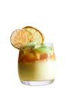 Shtreyzel tangerine fruit mulled wine. Isolation on white Stock Photography