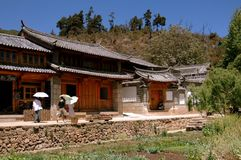 Shu He, China: Naxi Village Houses Royalty Free Stock Photos