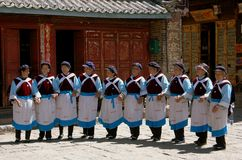 Shu He, China: Naxi Women Dancers Stock Photo