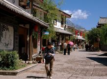 Shu He, China: View of Ancient Naxi Village Stock Image