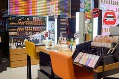 Shu Uemura kosmetyków butika wnętrze Zdjęcia Stock