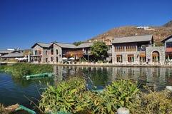 Shuanglang lakefront promenade, Yunnan, China Stock Photography