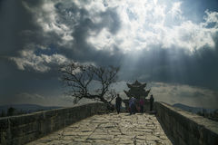 Shuanglong-Brücke Stockfotos