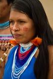 Shuar,从厄瓜多尔的土产小组 免版税库存图片