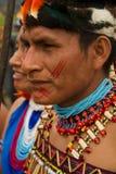 Shuar, gruppo indigeno dall'Ecuador immagine stock libera da diritti