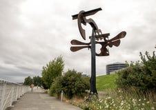 ` Shubert ` s Sonate ` door Mark di Suvero, Olympisch Sculptue-Park, Seattle, Washington, Verenigde Staten royalty-vrije stock foto's