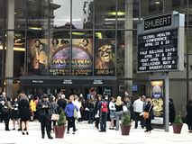Shubert Theater in New Haven, Connecticut. People waiting to watch Motown the Musical at Shubert Theater in New Haven, Connecticut stock image