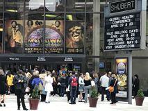 Shubert Theater in New Haven, Connecticut. People waiting to watch Motown the Musical at Shubert Theater in New Haven, Connecticut royalty free stock images