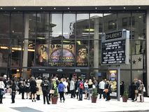 Shubert Theater in New Haven, Connecticut. People waiting to watch Motown the Musical at Shubert Theater in New Haven, Connecticut stock images