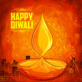 Shubh Deepawali Happy Diwali background with watercolor diya for light festival of India. Illustration of Shubh Deepawali Happy Diwali background with watercolor stock illustration