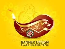 Shubh diwali celebration background. With floral vector illustration Stock Image