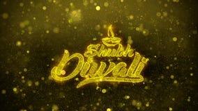 Shubh-diwali wünscht Grußkarte, Einladung, Feierfeuerwerk vektor abbildung