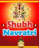 Shubh navratri artistic background Royalty Free Stock Photography