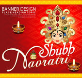 Shubh navratri background with goddess durga Royalty Free Stock Images