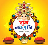 Shubh Navratru Festival Background with color pot Royalty Free Stock Photography