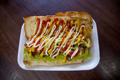 Shucos σάντουιτς τροφίμων οδών από τη Γουατεμάλα Στοκ εικόνα με δικαίωμα ελεύθερης χρήσης