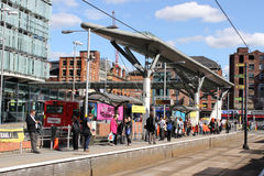 Shudehill tram stop, Metrolink, Manchester Stock Photography