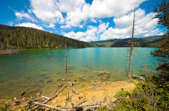 Shudu lake at Shangri-la, Yunnan China Royalty Free Stock Photo