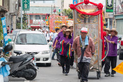 SHUEISHANG, TAIWAN - APR 19 : The parades for the Worship of God Stock Image