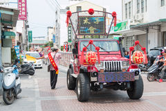 SHUEISHANG, TAIWAN - APR 19 : The parades for the Worship of God Stock Photo