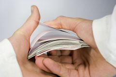 Shuffle. Cards shuffle stock photos