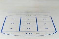 Shuffle board Stock Image