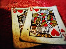 Shuffle cards stock photos