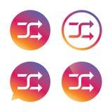 Shuffle sign icon. Random symbol. Royalty Free Stock Photos