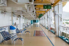 Shuffleboard and Chairs on Ships Deck Royalty Free Stock Image