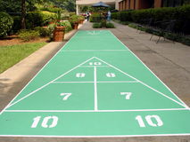 Shuffleboard Court Stock Photography