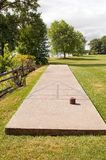 Shuffleboard court Royalty Free Stock Image