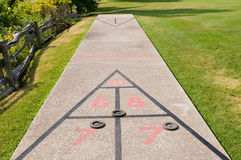 Shuffleboard court Royalty Free Stock Photos