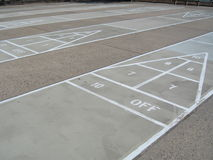 Shuffleboard courts Stock Photography