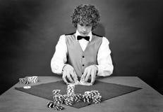 Shuffling cards Stock Photo