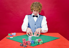 Shuffling cards Royalty Free Stock Images