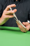 Shuffling cards Stock Photos
