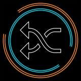 Shuffling icon, change order, random sign - vector music symbol royalty free illustration