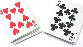 Shuffling Playing Cards stock video